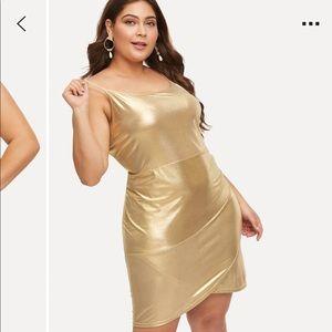 Plus Metallic Cami Dress